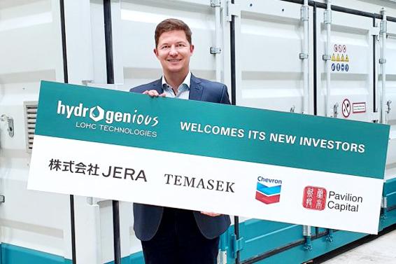 Hydrogenious Technologies erhält 50 Mio. Euro-Finanzierung